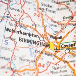 Birmingham on a map